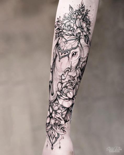 Elephant Tattoo by stellatxttoo