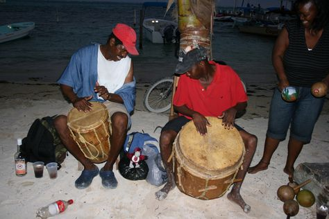 Rooney joins a drum circle in Guatemala