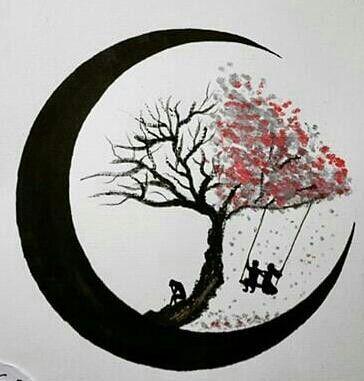 Effet couleur pour le feu de l'arbre ( point de peinture )