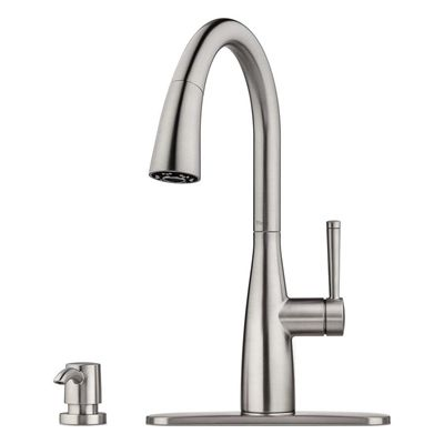 Pfister Kitchen Faucet F 529 7rys Raya Stainless Steel One Handle