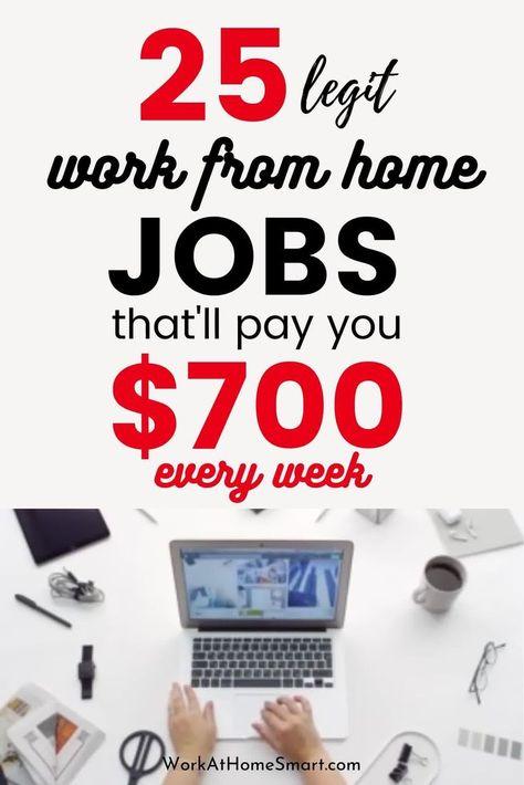25 Legit Online Jobs That Pay Weekly In 2020