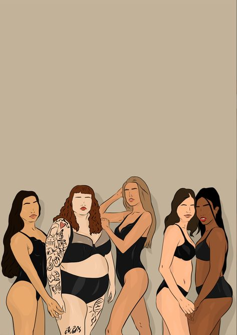 Female empowerment, every body is beautiful and unique. Drawing by @nowayholsay