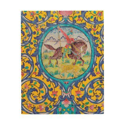 Shiraz S Spring Wood Wall Art Zazzle Com Wood Wall Art Tile Art Wood Print