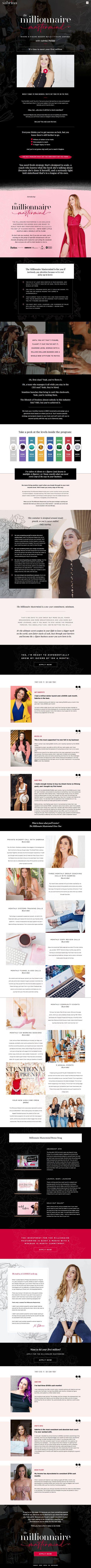 Sabrina Philipp Millionnaire Mastermind Sales Page Design
