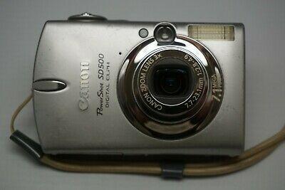 Canon Powershot Sd500 Digital Elph Camera With 3x Power Digital Camera Camera Digital