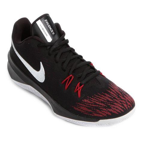 f555e15b0 Tênis Nike Zoom Evidence II Masculino - Preto e Vermelho