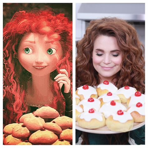 A Scottish Sweet Bread recipe from the Disney movie Brave. Rosanna Pansino makes Brave Iced Rolls on her baking show Nerdy Nummies! Disney Dishes, Disney Desserts, Disney Food Recipes, Disney Themed Food, Disney Inspired Food, Kung Fu Panda, Rosanna Pansino Nerdy Nummies, Comida Disney, Dinner Themes