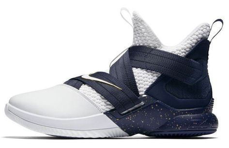 7c145caf54801 Nike Lebron Soldier XII SFG Basketball Shoes Mens 11.5 White Midnight Navy   Nike  BasketballShoes