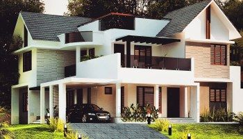 2300 Sq Ft 4 Bed Room Modern Home Design Pictures In 2020 Kerala House Design Bungalow House Design House Designs Exterior