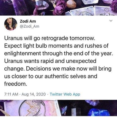 "Moonlight Energy Healing on Instagram: ""#uranus #retrograde #uranusretrograde #change RP @zodi_am"""