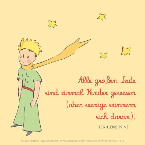 Der kleine Prinz The little Prince, Zitat, QotD, Kinder, Geschenkeschatz @arsEdition