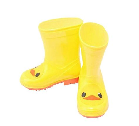 Cute Duck Outdoor Boy Rain Shoes Useful Rain Protector Kids Rain Boots Rain Shoes Rubber Rain Boots