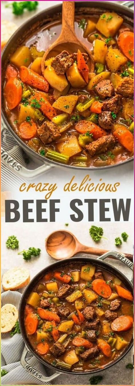 Classic Homemade Beef Stew Asian Meat Recipes Baked Meat Recipes Bbq Meat Recipes Beef In 2020 Beef Stew Recipe Easy Beef Stew Recipe Homemade Beef Stew