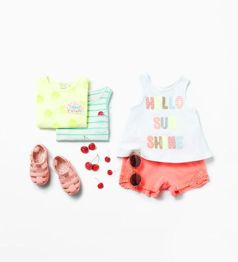 Zara Baby Girls Beach Holiday Outfit