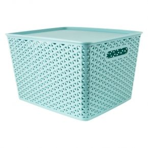 Groovy Storage Baskets Organisation Plastic Mint Green Konmari Gmtry Best Dining Table And Chair Ideas Images Gmtryco
