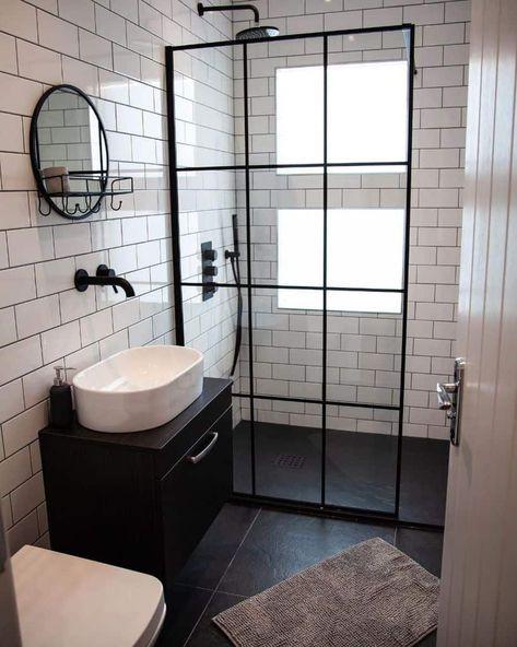 Small Bathroom Interior, Tiny Bathrooms, Small Bathroom Makeover, Bathroom Makeover, Bathroom Design Decor, Bathroom Design Luxury, Bathroom Design Small, Loft Bathroom, Bathroom Interior Design