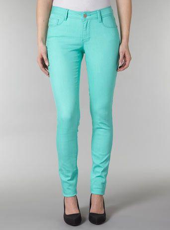 Aqua skinny jeansnot quite mint but still cute   Green
