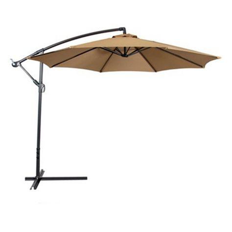 new tan patio umbrella offset 10