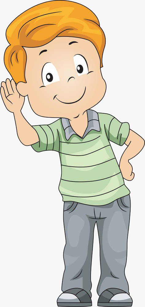 Raise Your Ears And Hear The Boy Png And Clipart Children Illustration Animated Images Kids Clipart