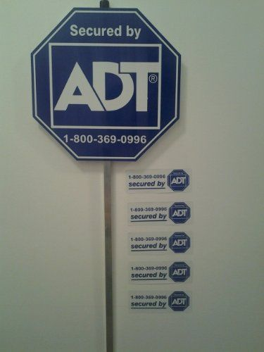 New Adt Home Security Alarm Sign Authentic 5 Double Sided