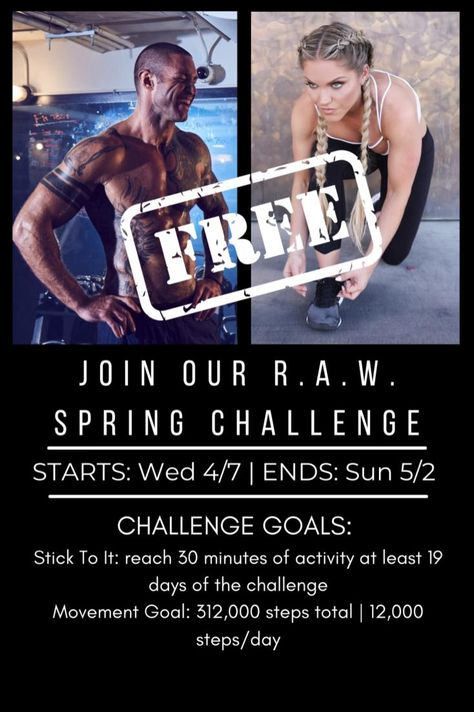 FREE Healthy Living Spring Challenge in my App!