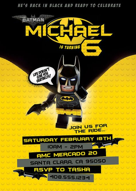 New For 2017 Lego Batman Movie Invitation By
