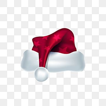 Cartoon Merry Christmas Red Santa Claus Hat With Stars Vector Hat Clipart Santa Merryxmas Png And Vector With Transparent Background For Free Download Red Christmas Background Santa Hat Vector Christmas Hat