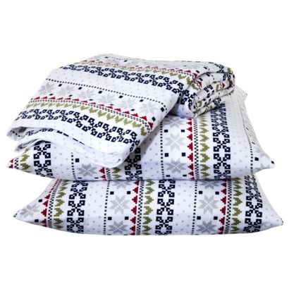 Holiday Flannel Sheet Set so festive, love the Fair Isle print ...