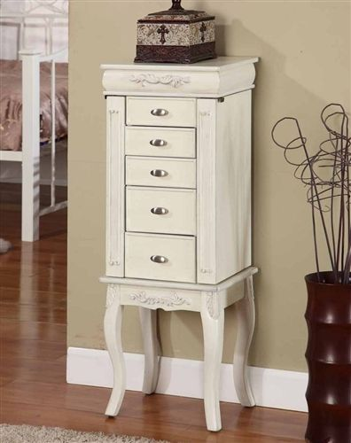 Stand Alone Jewelry Box : stand, alone, jewelry, Elegant, Antique, Style, Jewelry, Armoires., Large, Stand, Necklaces, Wooden, Armoire,, Furniture,, White, Armoire