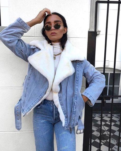 trendy how to wear denim jacket winter fall