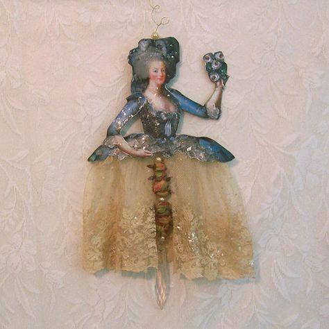 Cupcake Marie Antoinette Vintage Paper Doll by RhondasOriginals, $8.00