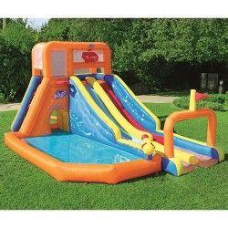 H2ogo Double Aqua Ramp Slide Target Inflatable Water Park Inflatable Water Slide Water Park