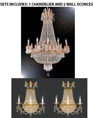 Set Of 3 French Empire Crystal Chandelier Chandeliers H4 Https Www Amazon Com Dp B0716 Crystal Wall Sconces Crystal Chandelier Lighting Luxury Chandelier