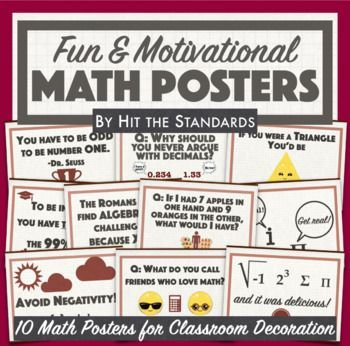 Free Math Posters With Fun Motivational Quotes For Classroom