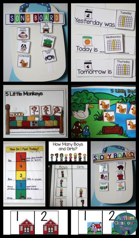 Just what you need to get started iwth morning meeting for preschool and elementary special education classrooms.  Communication supports, calendar materials, song and story visuals and more. $