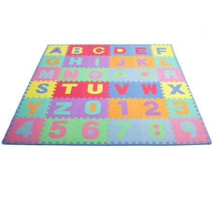 Prosource Puzzle Alphabet And Numbers Foam Playmat For Kids 36 Tiles With Edges Walmart Com Puzzles For Kids Play Mat Baby Floor Mat