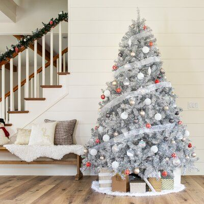Best Choice Products Best Choice Products Artificial Silver Tinsel Christm In 2020 Silver Tinsel Christmas Tree Silver Christmas Tree Decorations Silver Christmas Tree