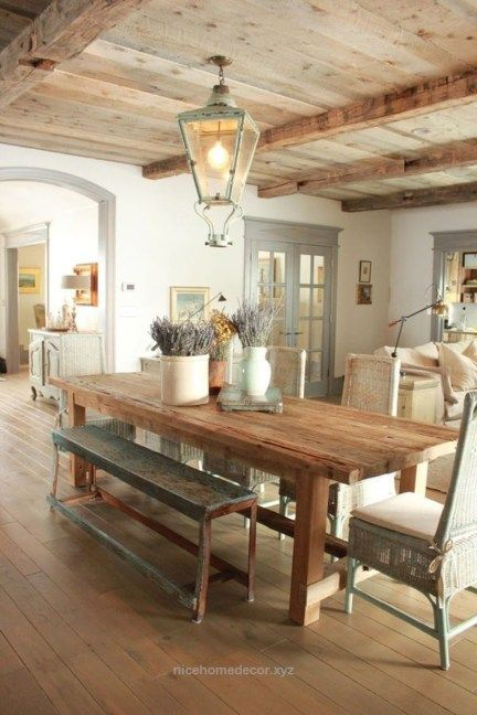 40 Inspiring Rustic Country Kitchen Ideas To Renew Your Ordinary Kitchen French Country Dining Room Country Dining Rooms French Country Dining