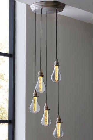 Buy Staten Led 5 Light Cluster Pendant From The Next Uk Online Shop Vintage Light Bulbs Hanging Lights Cluster Pendant