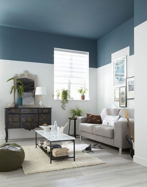Fotografiya Living Room Paint Ceiling Paint Colors Half Painted Wall Living Room