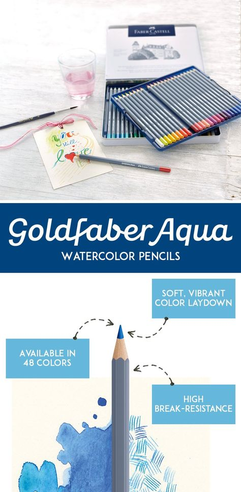 Create Stunning Designs With Goldfaber Aqua Watercolor Pencils By