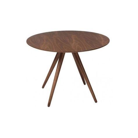 Danish Pheno Round Walnut Dining Table 106cm Dia 610 Liked