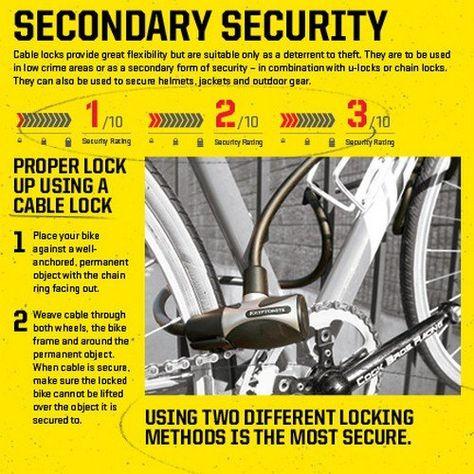 Kryptonite Kryptoflex 1218 Combo Cable Bicycle Lock Bike Lock With Transit Flexframe Bracket Click Image For More Bicycle Lock Child Bike Trailer Bike Lock