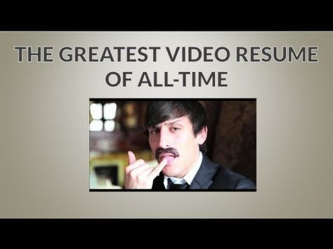 Google Video Resume Get Hired with Video Pinterest - sample video resume
