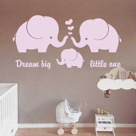 Elephant Wall Decal, Elephant Family Decal, Elephant Nursery wall decal