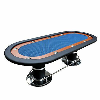 Details About Ids Knight 70 Plus Poker Table Racetrack 10 Cups Blue Speed Cloth Pedestal Leg In 2020 Poker Table Cup Holder Poker