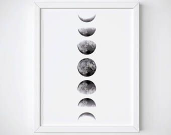 The Moon Phases Poster Satin Matt Laminated New