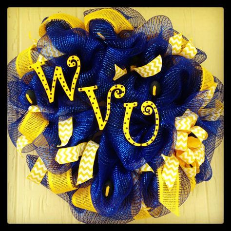 Items similar to College Mesh Deco Wreath on Etsy
