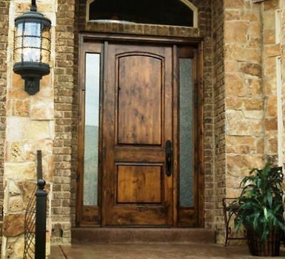 Details About 36x96 Tuscan Style Knotty Alder Entry Door With Sidelites Wooden Front Doors Wood Entry Doors Rustic Doors