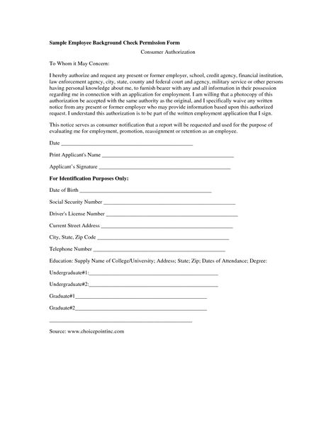 Criminal Background Check Form For Employment Google Search